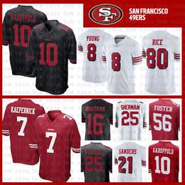 861f6d3df TOP SALE 10 Jimmy Garoppolo Jersey 7 Colin Kaepernick San Francisco 49er 56  Reuben Foster 16 Joe Montana 80 Jerry Rice Sherman Young Sanders