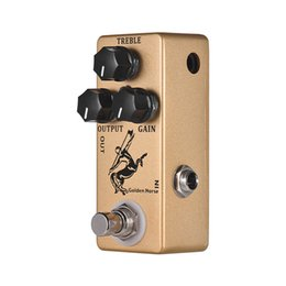 2019 e-gitarre verzögerung effekte pedal Goldenes Pferdegitarren-Overdrive-Effekt-Pedal Full Metal Shell True Versandkostenfrei
