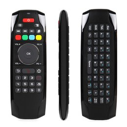 Wholesale computer remote keyboard - 2.4Ghz RF Mini Wireless Keyboard G7 Smart Fly Air Mouse TV Remote Control For Android TV Box Projector Computer Controller