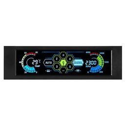 2019 amd processor am3 STW Fan Controller LCD Touch Screen in plastica 5,25 pollici Bay Front 5 Ventola Raffreddamento del computer