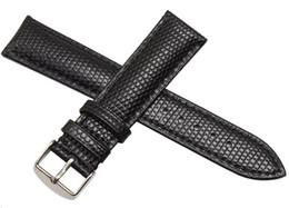 reemplazo del corchete para la venda de reloj de goma Rebajas Nuevo Negro Marrón Correa Lizards Grain18mm 20mm 22mm 24mm Relojes de hombre Pulsera Correa Reloj de pulsera Banda de marca envío gratis