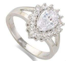 Canada Nouvelle arrivée femmes mode bijoux personnalisé baisse zircon mariée fiançailles bague de mariage fille festival cadeau anniversaire de Noël Offre