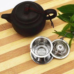 Wholesale Tea Trays Wholesale - Stainless Steel Tea Infuser Teapot Tray Spice Tea Strainer Herbal Filter Teaware Accessories Kitchen Tools