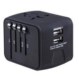 Universal Reiseadapter All-in-One International Reise-Ladegerät 2.4A Dual USB Weltweiter Stromadapter Stecker-Ladegerät für US UK EU AU von Fabrikanten
