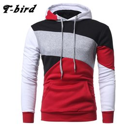 Wholesale Bird Belt - Wholesale- T-Bird Brand 2017 Fashion Hoodies Mens Stitching Sweatshirt Male Slim Fit Hoody Hip Hop Moletom Masculino Hoodie Mens Pullover