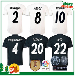 Wholesale short soccer real madrid - 2018 madrid Jersey Benzema ASENSIO football Soccer Modric Kroos Sergio Ramos Bale Marcelo 18 19 Champions League Real Madrid shirts