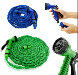 Wholesale Water Pipes Flexible - Garden hose 25FT 50FT 75FT 100FT Flexible Garden Water Hose With Spray Car Wash Pipe Water Hose Spray Nozzle Sprayers KKA3881
