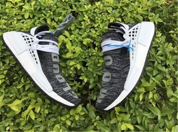 Wholesale Pw Blue - New Originals NMD Human Race Pharrell Williams Rainbow Multicolor PW White Grey Man Running Trail Shoes Men Women Sneakers Real Boost
