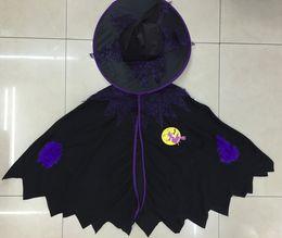 2019 trajes de bruxa de halloween adulto Trajes de halloween trajes cosplay Manto da bruxa adulto para crianças manto do jardim de infância festa de halloween desempenho traje trajes de bruxa de halloween adulto barato