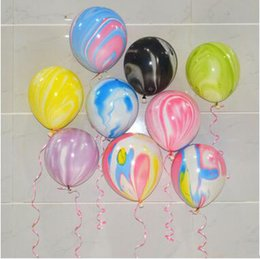 Wholesale Novelty Toy Supplies - Wedding Decoration Multicolor Balloon 12 Inch Lollipops Latex Balloon Novelty Agate Balloon 100 PCS SET Good Quality Party Supplies