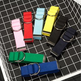 Wholesale Canvas Belt Double - New Fashion Casual Students Working Canvas Belt Colorful Weaving Double Ring Student Lovers Belt Independent Packaging