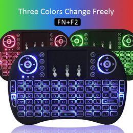 2019 проектирование окон Портативный Rii i8 мини беспроводная клавиатура тачпад светодиодная подсветка 2.4 G Gaming Air Mouse портативный пульт дистанционного управления для Android TV Box S905W S912