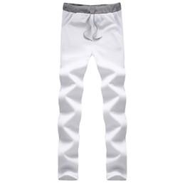 Wholesale Flat Safes - Fashion Men Casual Pants Hot Style Outdoors 2017 Fashion Casual Full Pants For Men Safe 7 Colors Sweatpants UK394