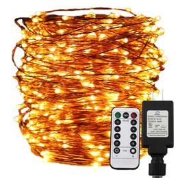 30m 50m 100m LED Guirlande Lumineuse, Fil de Cuivre Noël Fée Étoilée Décorative Fêtes Décoratives + Adaptateur UL + Télécommande, 8Mode ? partir de fabricateur