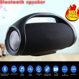mini usb card Coupons - Professional Outdoor Portable Boom Box Wireless Bluetooth Speaker Subwoofers HIFI Bass Column Speaker Subwoofer Sound Box with FM Radio