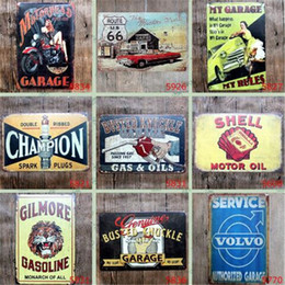 Wholesale Oil Painting Vintage - Champion Shell Motor Oil Garage Route 66 Retro Vintage TIN SIGN Old Wall Metal Painting ART Bar, Man Cave, Pub, restaurant home Decoration