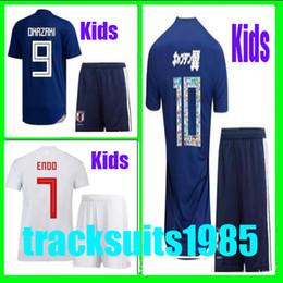 Wholesale shorts teen - Boys Rugby 2018 2019 Kids Jersey Japan ATOM OKAZAKI KAGAWA HASEBE NAGATOMO 18 19 child teens Home Away Jerseys 10 or more free to send DHL