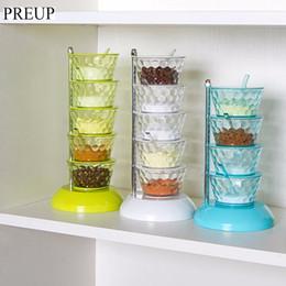 Canada Épices en cristal assaisonnement de mode de la boîte de stockage multi-couche 360 degrés peut être tourné outil de cuisine avec cuillère Offre