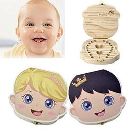 2019 caixa de lembrança do bebê Caixa de Dentes de bebê, Criança Leite Dentes Saver Madeira Lembrança Organizador Deciduous Lembrança Caixa Caixa De Dente Do Bebê caixa de lembrança do bebê barato