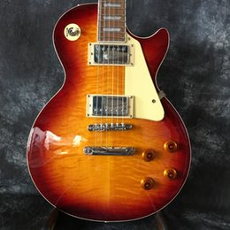 Wholesale Quilted Maple Top Guitar - Factory LP Guitars quilted Maple TOP sunburst Body Rosewood Fretboard Colored inlay China Custom shop