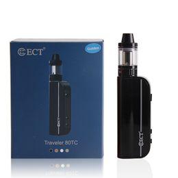 Wholesale E Cig Lights - ECT Traveler 80TC electronic cigarette 80W VW box mod 2200mah built-in battery 2.0ml e cig vaporizer Lit mini