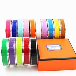 Wholesale Christmas H - 12mm Luxury Cuff Bracelets&Bangle Wristband Enamel Bracelet H Buckle Top quality Bracelets For Women YX013