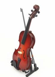 2017Mini modelo de violín Decoración Viola modelo Péndulo accesorios de regalo de cumpleaños caja de violín arco accesorios desde fabricantes