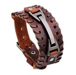 Shop easter gift wrap uk easter gift wrap free delivery to uk fashion men punk retro woven vintage black brown cuff bangle genuine leather wrap bracelet charm for women wristband jewelry gift negle Image collections