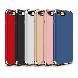 Wholesale External Blue - JOYROOM Battery Case Power Bank Case External Backup Portable Charger Power Case For iphone 7 7plus 8 8plus