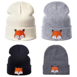 033d90192437d Chinese Toddler Kid Girl Boy Baby Infant Winter Spring Warm Fox Print  Crochet Knit Hat Beanie Caps