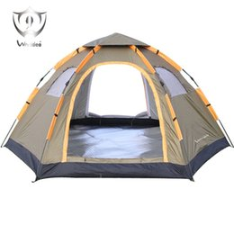 Wholesale Waterproof Pop Up Tents - Wnnideo Instant Family CampTent 6 Person Large Automatic Pop Up Tents Waterproof for Outdoor Sports Camping Hiking Travel Beach