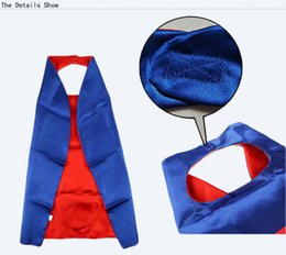 Wholesale Wholesale Superhero Capes For Kids - halloween party spiderman batman flash robin ironman double layer superhero cape costumes cosplay superhero superman capes and mask for kids