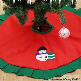 skirting decorazione Sconti New hot Christmas Tree Skirt Christmas Decoration for Home Xmas Tree Skirt Ornaments Regali Capodanno Decorazione