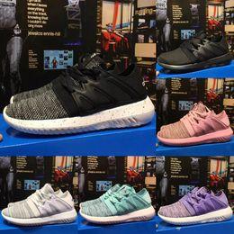 Wholesale Increase Knitting - Tubular Shadow Knit Ultra Boost 350 Men Women Running Shoes Kanye West Sneaker Sport training Wlaking Shoes Black Gray Pink Blue Szie 36-45
