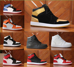Wholesale Basketball Backboards - Cheap 1 top 3 Banned Bred Red Chicago OG Royal Mid hare mens basketball shoes sneakers Shattered Backboard sports designer trainers shoes