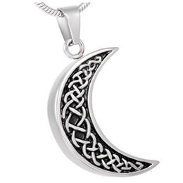 pendente celta da lua Desconto Celtic Moon Urn Colar para Cinzas-Memorização Da Memória Memorial Lembrança Pingente Medalhão de Memória com Funil Filler Kit