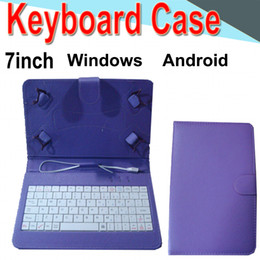 android phone covers Promo Codes - 7inch Wire Keyboard Case Cover for Android Windows Ultra Thin Wireless ABS Keyboard PU Case Universal Mobile Phone EXPT-2