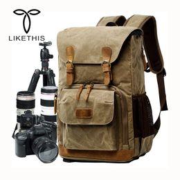 2019 bolsas de cámara equipadas 2018 Nueva cámara Liner SLR Digital Mochila impermeable lona bolso de la cámara para los hombres y mujeres que viajan bolsas de cámara equipadas baratos