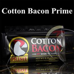 USA Clone Prime COTONE BACON 2.0 100% Puro Cotone Bacon Wick N Vape Wicking Per DIY RDA RBA Atomizzatori E Sigarette Vaporizzatori Serbatoi da vape clone usa fornitori