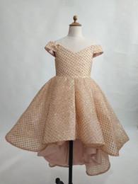 robes rose fleur d'or Promotion Robe de bal fille de fleur