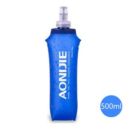 foldable bpa free water bottles wholesale Coupons - AONIJIE 250 500ml Running Water Hydration Bottle Kettle Foldable BPA PVC Free Soft Cycling Water Bag Bottle Hiking Sports Flask