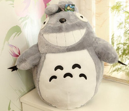 Wholesale Totoro Cushions - Christmas Promotion Japan Anime TOTORO Soft & 20cm Stuffed Plush Toys Doll Pillow Cushion Birthday gift