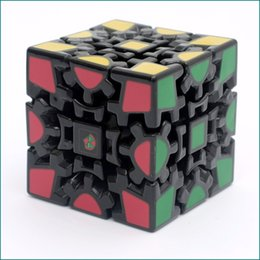 Wholesale 3d Stickers Puzzles - Zcube 3D Magic Cube Puzzle Gear Cube 3 x 3 x 3 Gears Rotate Puzzle Sticker Adults Child's Educational Game Toys Decompression Toy
