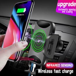 2019 carregador de carro usb laptop Car Mount Qi Carregador Rápido Sem Fio de Carregamento Automático Sensor Infravermelho Suporte Do Telefone Para iphone x 8 plus samsung s9 s8 nota 8