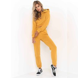 Wholesale Woman Casual Wear Set - New Spring Fashion Women Sport Wear Tracksuits Sexy Women Casual Suit Short Pullover With Pant Jogging 2pc Set