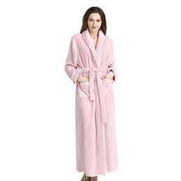063a5d9142 Winter Women Sleepwear Men Sleepwear 2018 Winter Big Size Thick Flannel  Couple Pajamas Bathrobe Flannel Long Robes