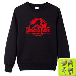 Wholesale dinosaur sweaters - Film Jurassic Park Dinosaur Crewneck sweater Male and female same style Spring clothes