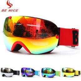 2bfabb4fd077 Benice Ski Goggles Double Layers UV400 Anti-fog Snow Winter Sports  Snowboard Skiing Goggles Eyewear Glasses for Men Women Adult