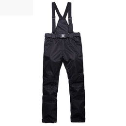 Wholesale Women S Snowboard Pants - Wholesale- Winter Ski Pants Women Men Waterproof Snowboard Snow Pants Solid Pattern Super Warm Skis Trousers Unisex Outdoor Sport Trousers