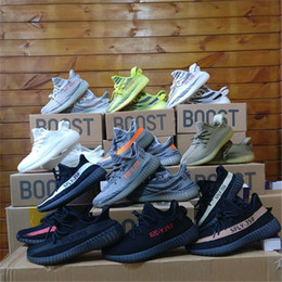 Wholesale Wide White Lace - .2018 Best Quality SPLY 350 V2 Boost Semi Frozen Zebra CP9654 Black Red Sport Shoes Mens Sneakers US 5-13 With Box+Keychain+Receipt